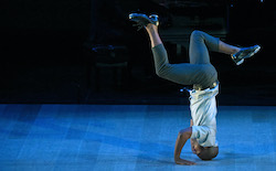 Dorrance Dance's Byron Tittle in 'Myelination'. Photo by Kevin Parry.