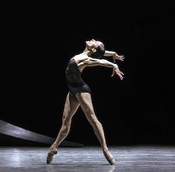 Pacific Northwest Ballet principal dancer Leta Biasucci in David Dawson's 'Empire Noir'. Photo by Angela Sterling.