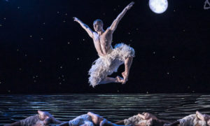 Max Westwell in Matthew Bourne's 'Swan Lake'. Photo by Johan Persson.