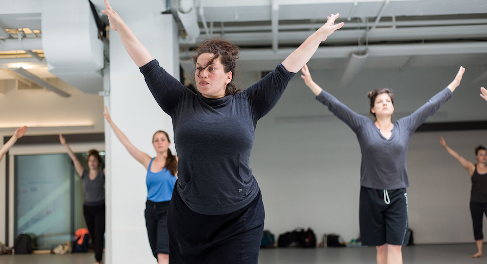 Alexandra Beller teaching. Photo by Scott Shaw.