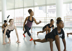 Horton with Karen Arceneaux at Ailey Experience NYC. Photo by Kyle Forman.