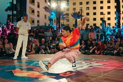 Lily Frias at Red Bull 'Dance Your Style'. Photo courtesy of Frias.