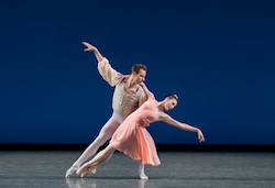 Tiler Peck and Andrew Veyette in George Balanchine's 'Allegro Brillante'. Photo by Paul Kolnik.