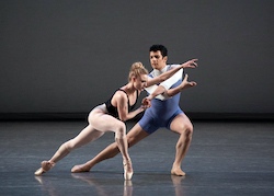 Sara Mearns and Gilbert Bolden III of NYCB in Justin Peck's 'Rotunda'. Photo by Erin Baiano.