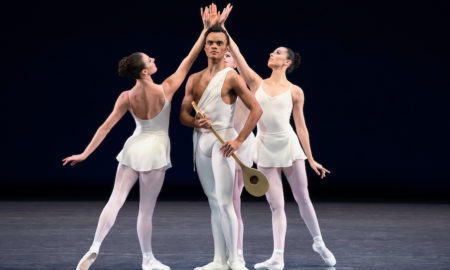 Taylor Stanley and members of NYCB in George Balanchine's 'Apollo'. Photo by Erin Baiano.