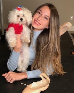 Brianna Guagliardo and Chanel. Photo courtesy of Guagliardo.