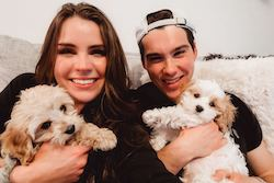 Carolynn Rowland Shada and husband with pups Finn and Jake. Photo courtesy of Shada.