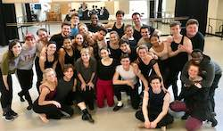 Linda Sabo with a musical theater class. Photo courtesy of Sabo.
