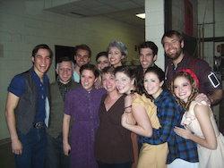 Linda Sabo with students. Photo courtesy of Sabo.
