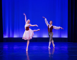 Daniel Ayala (right) in 'La Fille Mal Gardee' pas de deux. Photo by Julia Abella.