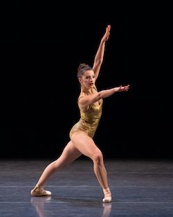 Indiana Woodward in Pam Tanowitz's 'Bartók Ballet'. Photo by Erin Baiano.