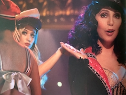 Tyne Stecklein and Cher in 'Burlesque'. Photo by Stephen Vaughan.
