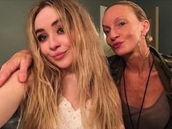 Melanie Lewis-Yribar with Sabrina Carpenter. Photo courtesy of Lewis-Yribar.