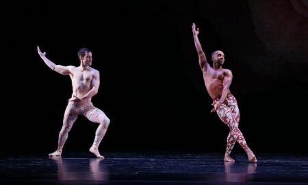 Robert Kleinendorst and Alex Clayton in Paul Taylor's 'Arden Court'. Photo by Paul B. Goode.