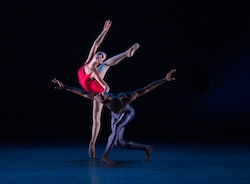 Christine Shevchenko and Calvin Royal III in 'Piano Concerto #1'. Photo by Rosalie O'Connor.