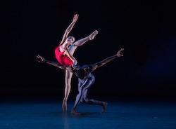 Christine Shevchenko and Calvin Royal III in 'Piano Concerto #1'. Photo by Rosalie O'Connor.