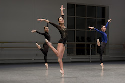 Boston Ballet performing in BB@home. Photo by Liza Voll, courtesy of Boston Ballet.