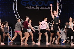 Emma Gassett teaching at Groove Dance Competition and Convention. Photo courtesy of Groove.
