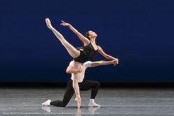 Lia Cirio in George Balanchine's 'Agon'. Photo by Liza Voll.
