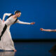 Xin Ying and Anne Souder in Martha Graham's 'Prelude to Action'. Photo by Melissa Sherwood.