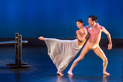 Xin Ying and Jacob Larsen in Martha Graham's 'Maple Leaf Rag'. Photo by Brigid Pierce.
