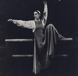 Martha Graham in 'Frontier'. Photo by Barbara Morgan.