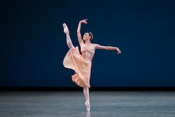Tiler Peck in George Balanchine's 'Tschaikovsky Pas de Deux'. Photo by Paul Kolnik.