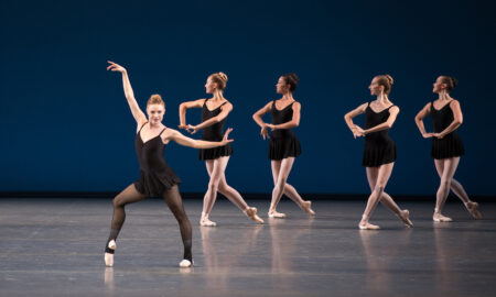 Sara Mearns and New York City Ballet in George Balanchine's 'Stravinsky Violin Concerto'. Photo by Rosalie O'Connor.