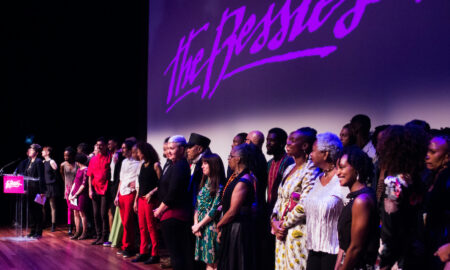 2017 Bessie nominees on stage. Photo by AK47 Division.