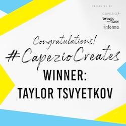 Capezio Creates Winner Taylor Tsvyetkov.