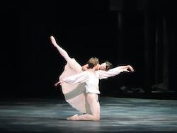 Devon Teuscher and Aran Bell in 'Romeo and Juliet'. Photo by Gene Schiavone.
