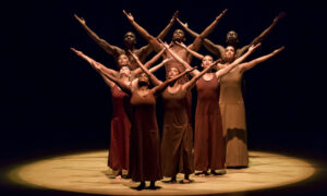 Alvin Ailey American Dance Theater in Alvin Ailey's 'Revelations'. Photo by Paul Kolnik.