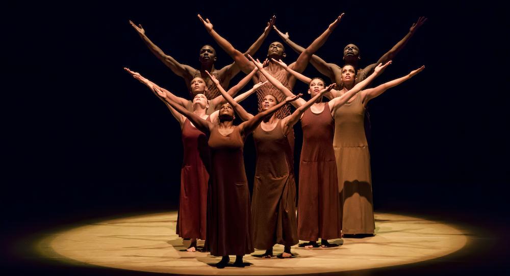 Alvin Ailey American Dance Theater in Alvin Ailey's 'Revelations'. Photo by Paul Kolnik.