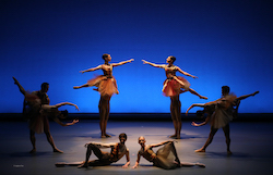 American Repertory Ballet in Ethan Stiefel's 'Overture'. Photo by Leighton Chen.