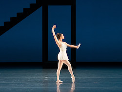 Cassandra Trenary as Calliope in 'Apollo'. © The George Balanchine Trust. Photo by Kyle Froman.