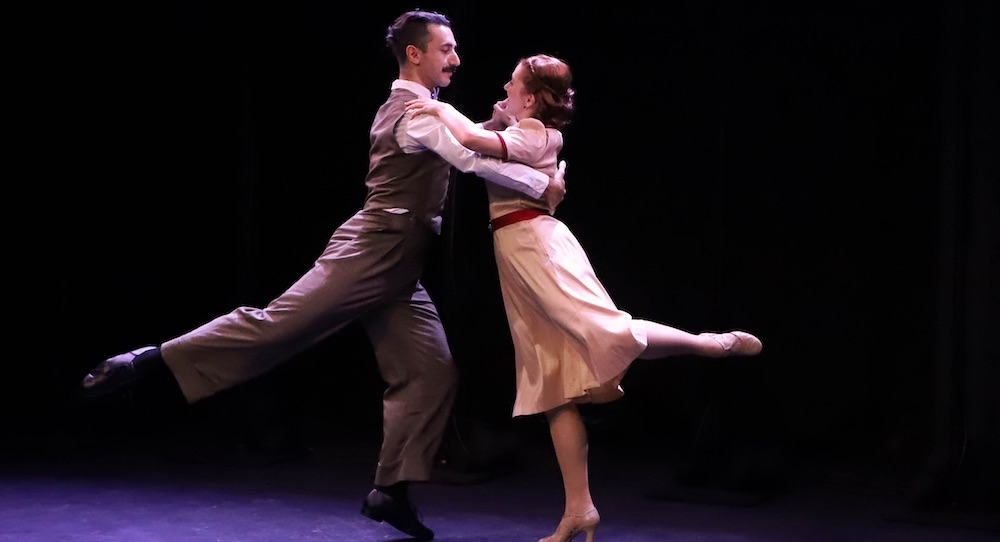 Eric Greengold and Elizabeth Troxler in 'Dancing Through...'. Photo by McKenna C. Poe.