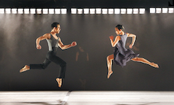 Paul Taylor Dance Company's Francisco Graciano and Madelyn Ho in Larry Keigwin's 'Rush Hour'. Photo by Paul B. Goode.