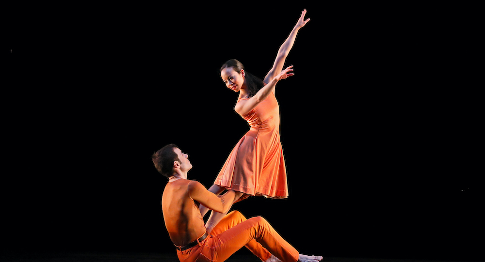 Paul Taylor Dance Company's Madelyn Ho and Robert Kleinendorst in 'Esplanade'. Photo by Paul B. Goode.
