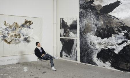 Shen Wei in his New York studio. Photo by Jeffrey Sturges.