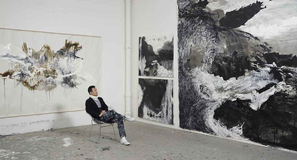 Shen Wei in his New York studio. Photo by Jeffrey Sturges.