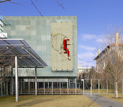 Shen Wei's 'Red Marker Number 1' on the Anne H. Fitzpatrick Facade.