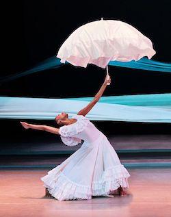Alvin Ailey American Dance Theater's Jacqueline Green in Alvin Ailey's 'Revelations'. Photo by Paul Kolnik.