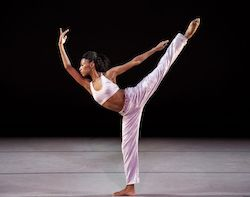 Alvin Ailey American Dance Theater's Jacqueline Green in Kyle Abraham's 'Untitled America'. Photo by Paul Kolnik.