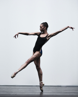 Chyrstyn Fentroy in William Forsythe's 'Pas/Parts'. Photo by Angela Sterling, courtesy of Boston Ballet.