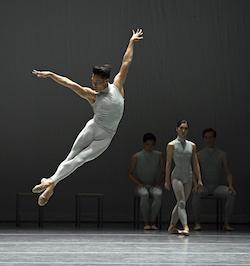 John Lam in William Forsythe's 'The Second Detail'. Photo by Gene Schiavone, courtesy of Boston Ballet.