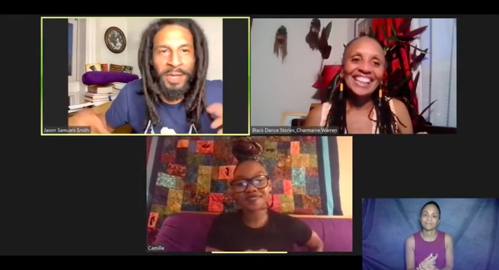 Black Dance Stories with Jason Samuels Smith, Charmaine Warren and Camille A. Brown. Photo courtesy of Black Dance Stories.