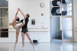 Chyrstyn Fentroy (left) in rehearsal. Photo by Brooke Trisolini.