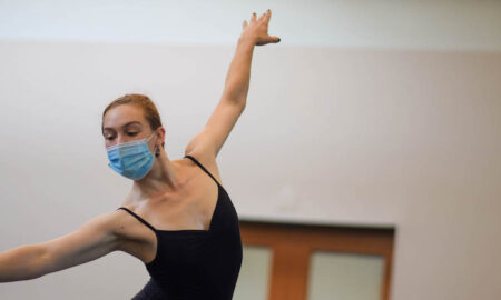Ballet Hartford in rehearsal. Photo courtesy of Leyna Doran.