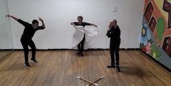 Bombazo Dance Company in rehearsal. Photo by Milteri Tucker Concepcion, Bombazo Dance Company.