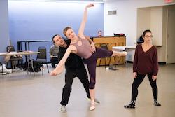 Sara Mearns and Joshua Bergasse in rehearsal for 'I Married an Angel'. Photo by Paula Lobo.